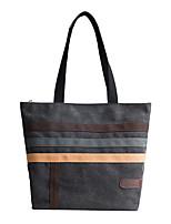Women Bags Canvas Tote Zipper for Shopping Casual All Season Black Gray Khaki