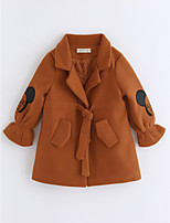 cheap -Girls' Cartoon Trench Coat,Cotton Long Sleeves Camel