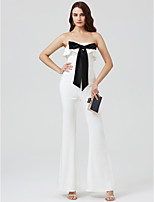 Jumpsuit Strapless Ankle Length Charmeuse Formal Evening Dress with Bow(s) Pleats by TS Couture®