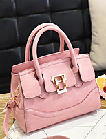 cheap -Women Bags PU Tote Zipper for Outdoor Summer Red Blushing Pink Military Green Gray Purple