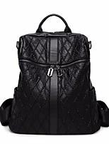 Women Bags PU Backpack Zipper for Casual Winter Fall Black