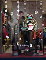economico -Animali Natale Adesivo per finestre Materiale decorazione della finestra