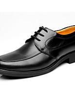 Masculino sapatos Pele Primavera Outono Conforto Oxfords Para Casual Preto