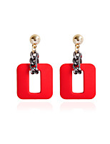 Women's Stud Earrings Drop Earrings Metallic Resin Alloy Geometric Jewelry For Gift Daily