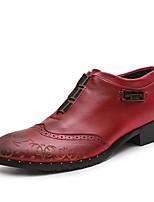 Men's Shoes Denim Spring Fall Comfort Oxfords For Outdoor Red Brown Black