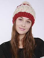 cheap -Women's Acrylic Roman Knit Floppy HatVintage Cute Casual Floral Winter Braided Beige Red Orange Blue