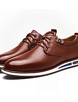Для мужчин обувь Искусственное волокно Весна Осень Удобная обувь Туфли на шнуровке Назначение Повседневные Черный Коричневый Синий