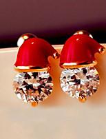Women's Stud Earrings Cubic Zirconia Lovely Fashion Zircon Alloy Geometric Jewelry For Carnival Christmas