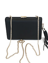 cheap -Women Bags PU Metal Clutch Tassel for Event/Party All Season Black