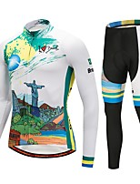 Cycling Jersey with Tights Unisex Long Sleeve Bike Clothing Suits Thermal / Warm Winter Sports Polyester Spandex Fleece Winter