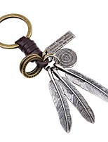 cheap -Keychains Jewelry Leather Alloy Wings / Feather Simple Classic Party Street
