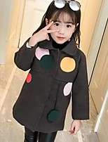 Girls' Patchwork Jacket & Coat,Rayon Polyester Long Sleeves