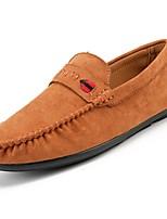 Для мужчин обувь Кожа Весна Осень Удобная обувь Мокасины Мокасины и Свитер Назначение Повседневные Черный Коричневый Хаки