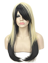 Cosplay Wigs Blonde Black Mix Long Straight Party wig