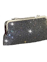 Women Bags Polyester Evening Bag Crystals/Rhinestones for Event/Party Spring, Fall, Winter, Summer All Seasons Gold Black Silver