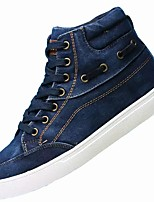 cheap -Men's Shoes Canvas Denim Winter Comfort Sneakers For Casual Blue Gray Black