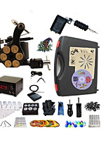 Basekey Pro Tattoo Kit 2 Machines G2Z14R4P With Power Supply Grips Cleaning Brush  Needles