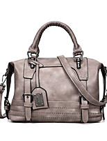 cheap -Women Bags PU Tote Zipper for Casual Office & Career All Season Black Blushing Pink Gray Brown