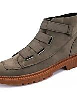 economico -Da uomo Scarpe Scamosciato Primavera Autunno Comoda Sneakers Per Casual Nero Cachi