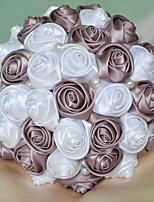 """abordables -flores de la boda ramos boda espuma satén 7.09 """"(aprox.18cm)"""
