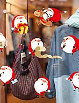 Noël Stickers muraux Crayons, Pastels & Fusains Autocollants muraux décoratifs,Non tissé Matériel Décoration d'intérieur Calque Mural