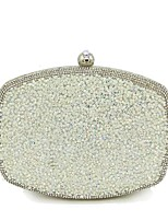 cheap -Women Bags Polyester Evening Bag Crystal Detailing for Wedding Event/Party All Season Gold Silver