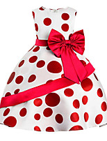 Girl's Going out Daily Solid Polka Dot Print Dress