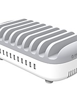 Chargeur USB ORICO 10 ports Station de chargeur de bureau Avec identification intelligente Avec Quick Charge 3.0 Prise US Prise UE Prise