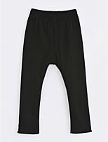 cheap -Girls' Solid Pants,Cotton Winter Black