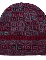 Унисекс На каждый день Вязаная шапочка,Зима Романский трикотаж Цветочный Стильные Трикотаж