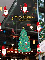 preiswerte -Person Weihnachten Fenster-Aufkleber Stoff Fensterdekoration