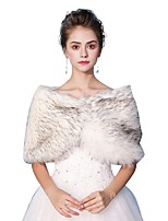 Sleeveless Faux Fur Wedding Party / Evening Women's Wrap With Smooth Capelets