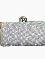 Women Bags Spring, Fall, Winter, Summer All Seasons Polyester Evening Bag Crystals/Rhinestones for Event/Party Gold Black Silver