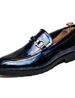 Men's Shoes Leatherette All Season Fall Novelty Loafers & Slip-Ons For Casual Black/Blue Black/Red Black