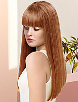 cheap -Women Human Hair Capless Wigs Medium Auburn Black Long Kinky Straight