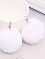 Women's Drop Earrings Dangle Earrings Sweet Lovely Fur Ball Jewelry For Party Christmas
