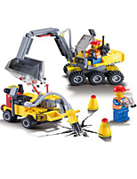 Building Blocks Plane Aircraft Carrier Toys Truck Forklift Military Boys 433 Pieces
