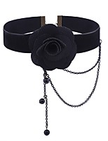 Women's Oversized Choker Necklaces Alloy Choker Necklaces , Floral Classic Oversized Going out