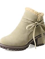 abordables -Mujer Zapatos Semicuero Invierno Confort Botas Dedo redondo Botines/Hasta el Tobillo Pajarita Para Vestido Fiesta y Noche Negro Verde