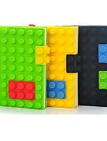 1 unids bloques bloc de notas cuaderno color caramelo elegante silicón 3d cubierta libro personal organizador ramdon color