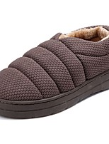 cheap -Men's Shoes Cashmere Winter Snow Boots Slippers & Flip-Flops for Casual Gray Brown