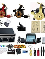 cheap -Basekey Professional Tattoo Kit Triplet  3   Machines  Liner & Shader With Power Supply Grips Cleaning Brush  Needles