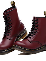 cheap -Women's Shoes PU Spring Fall Comfort Boots For Outdoor Burgundy Black