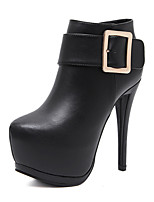 cheap -Women's Shoes Leatherette Fall Winter Comfort Novelty Fashion Boots Bootie Boots For Wedding Casual Black