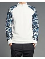 Sweatshirt Homme Décontracté / Quotidien Imprimé Couleur Pleine Polyester