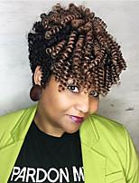 Kanekalon Carrie Curl 10 Inch Synthetic Crochet Bouncy Curly Twist Braiding Bounce Afro Kinky Twist Crochet Hair Braids 20strands/Pack 5pack One Head