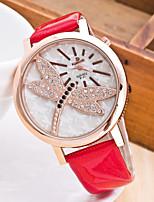 Damen Armbanduhren für den Alltag Modeuhr Chinesisch Quartz Chronograph Caucho Band Freizeit Elegant Weihnachten Schwarz Weiß Blau Rot