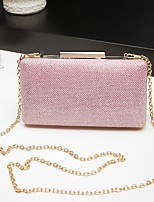 Women Bags All Season PU Evening Bag Buttons for Event/Party Gold Black Silver Blushing Pink