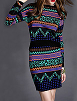 Women's Party Club Casual Winter Spring/Fall Sweater Skirt Suits