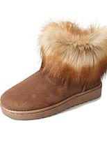 abordables -Mujer Zapatos Piel Otoño Invierno Confort Botas de nieve Botas Para Casual Negro Fucsia Marrón